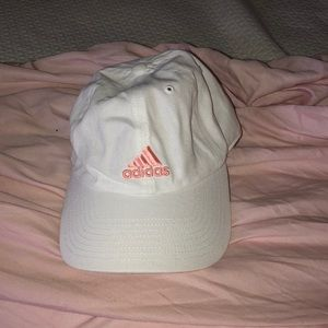 pink and white adidas hat NWOT